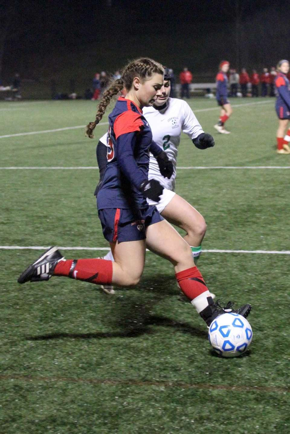 Kelsey Ford of South Side High School moves
