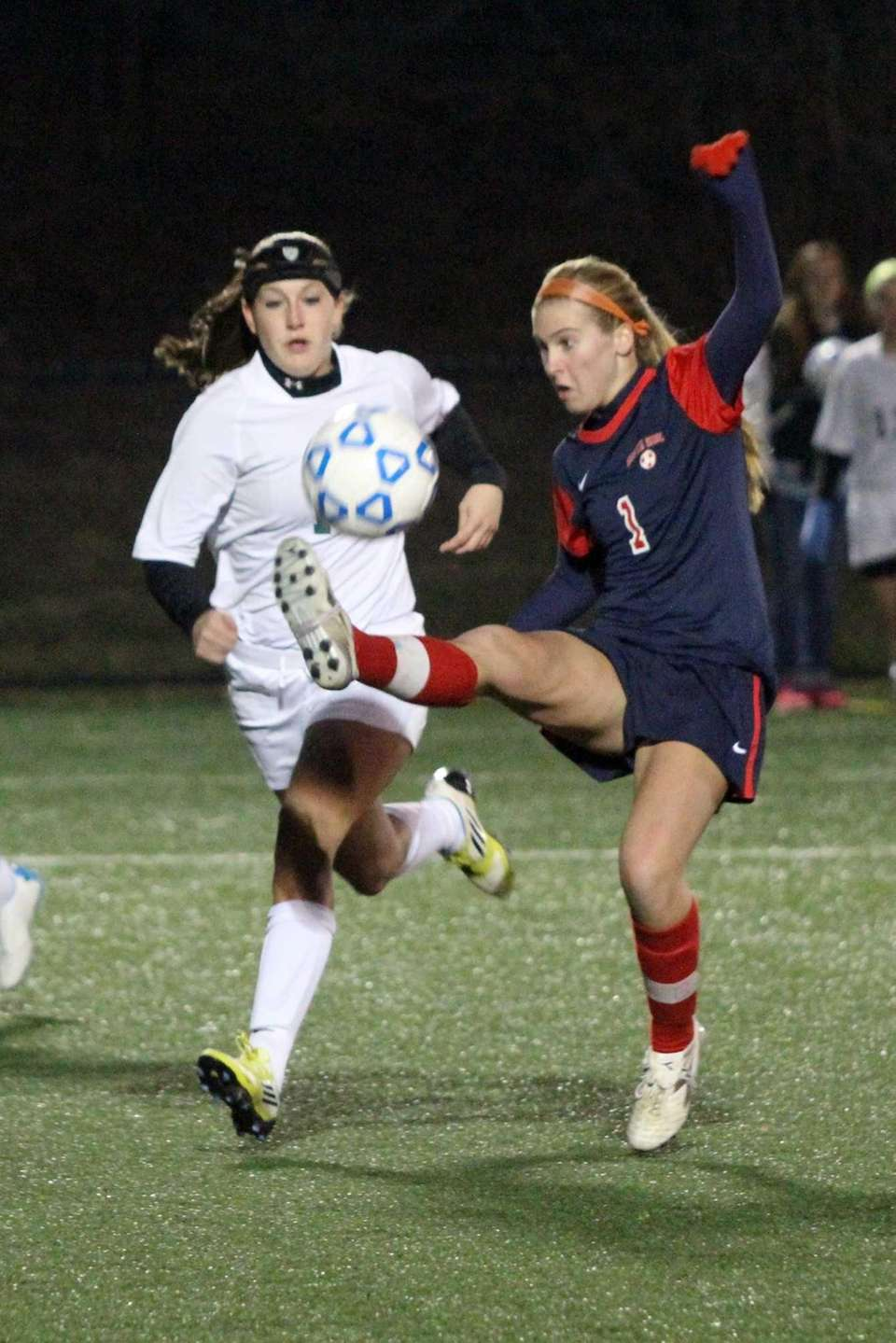 Katie Ford of South Side keeps the ball
