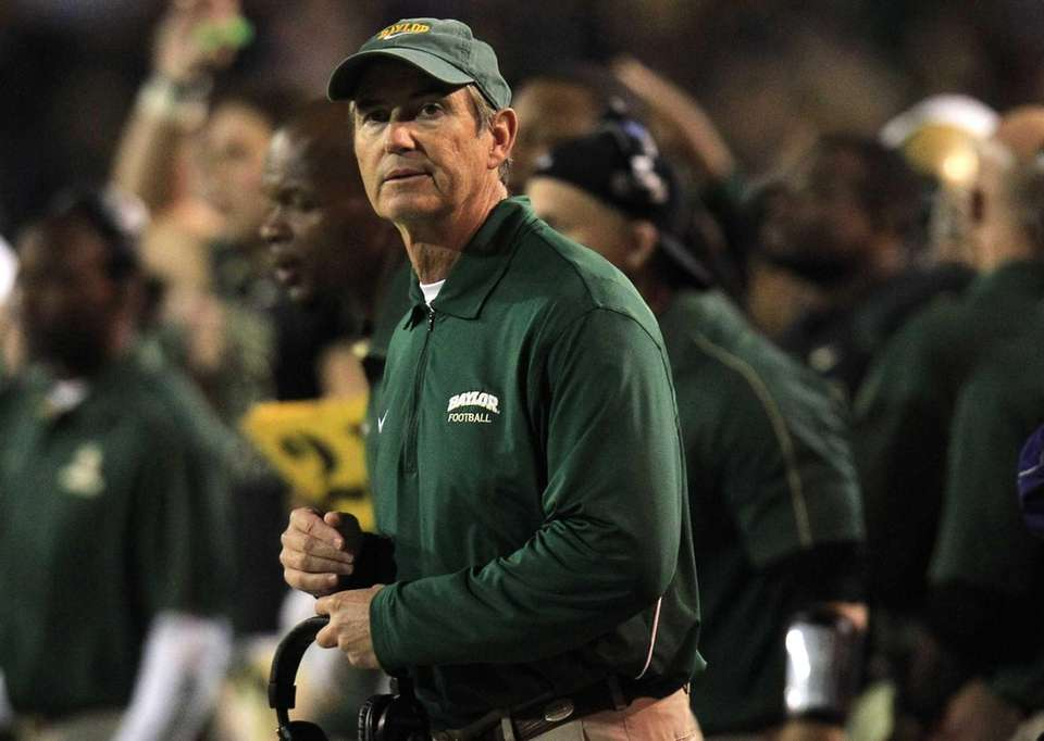 Baylor head coach Art Briles watches from the