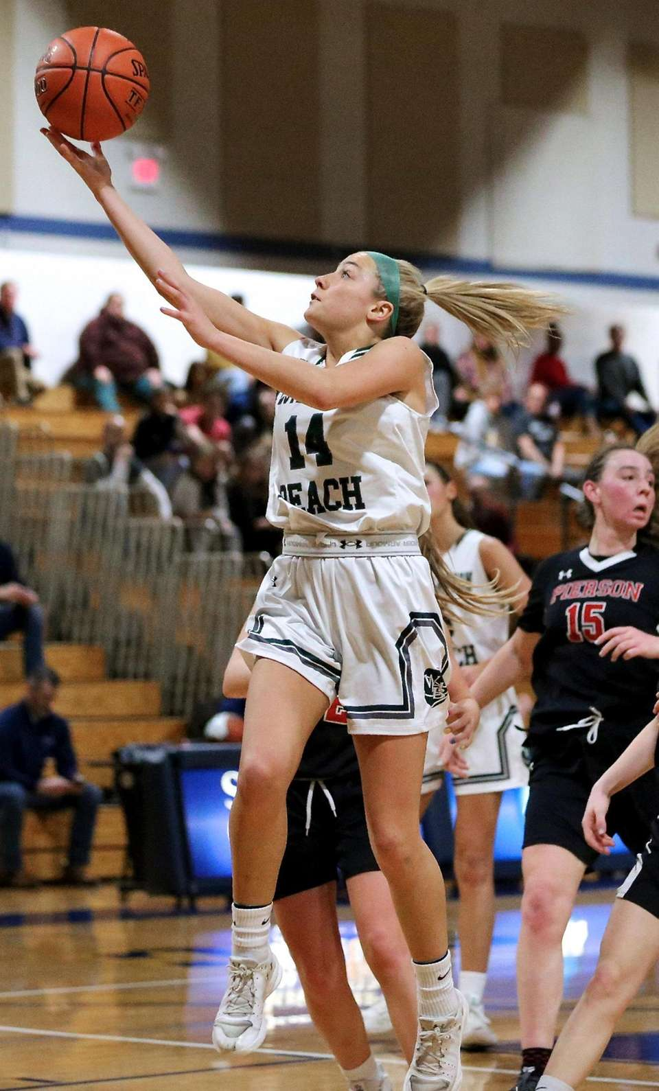 Westhampton Beach guard Isabelle Smith takes the layup