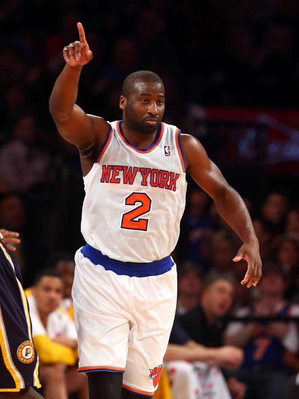 Raymond Felton celebrates after hitting a three-point shot