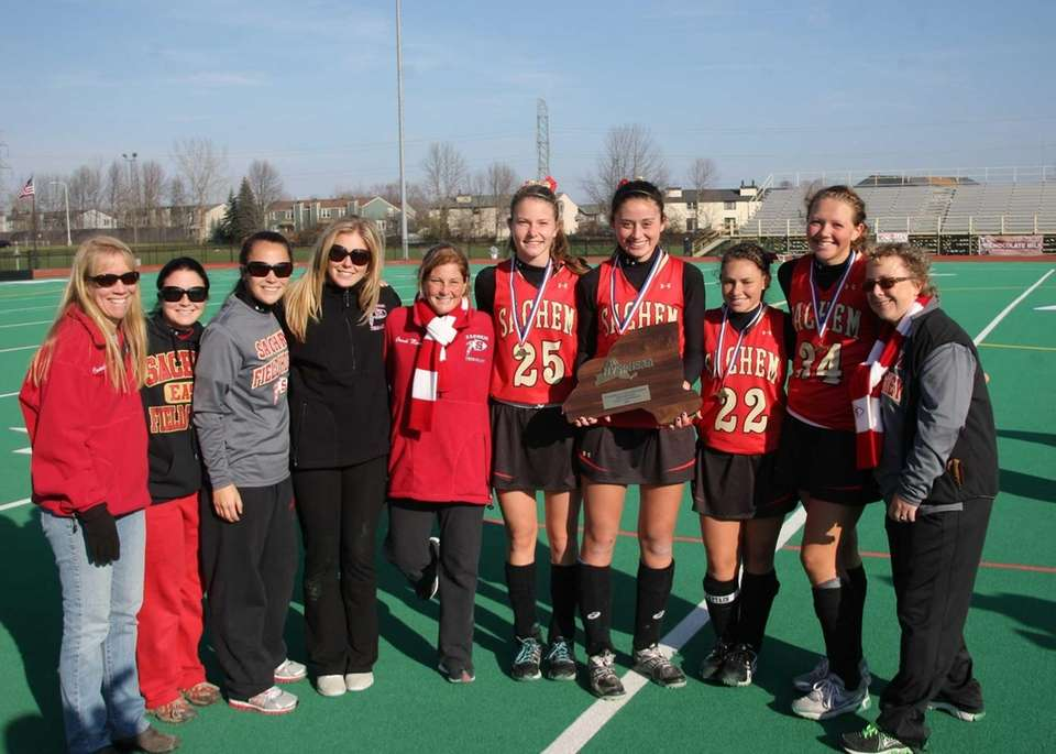 Coaches and captains of the Sachem East Flaming