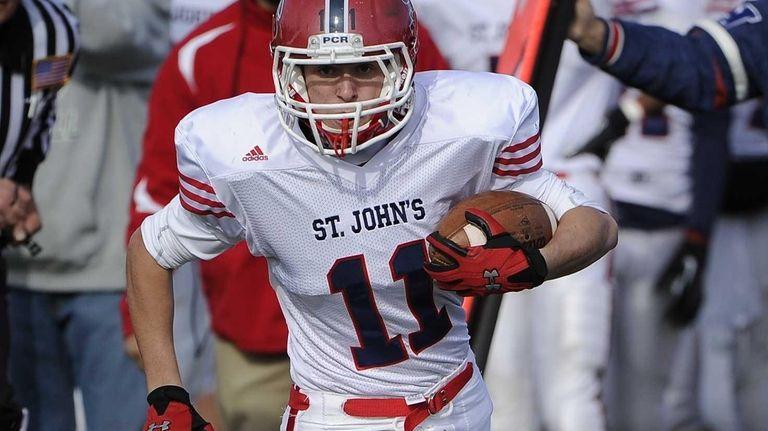 St. John the Baptist's Christian Turri runs for
