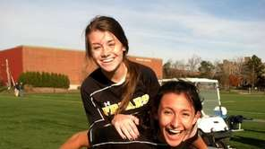 St Anthony's Tricia Hanley and Daniella Ganiaris celebrate