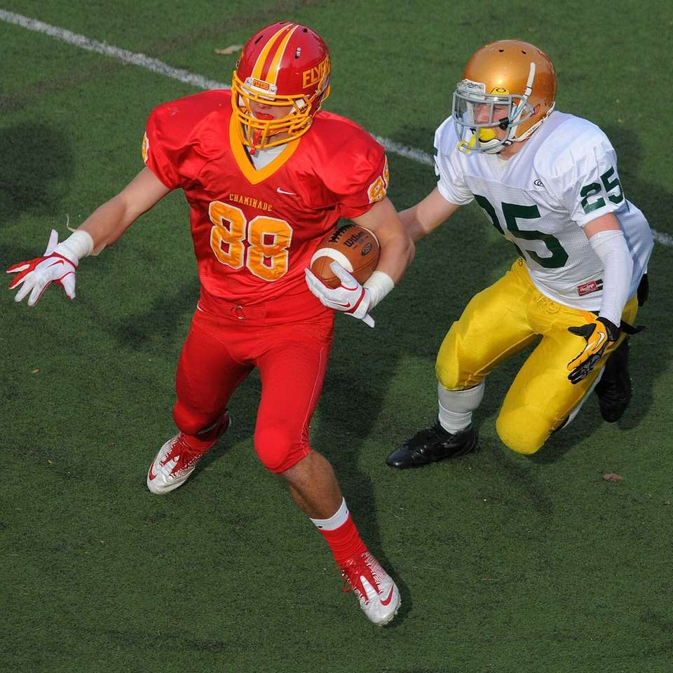 Chaminade's Thomas Zenker, left, gets past Holy Cross's