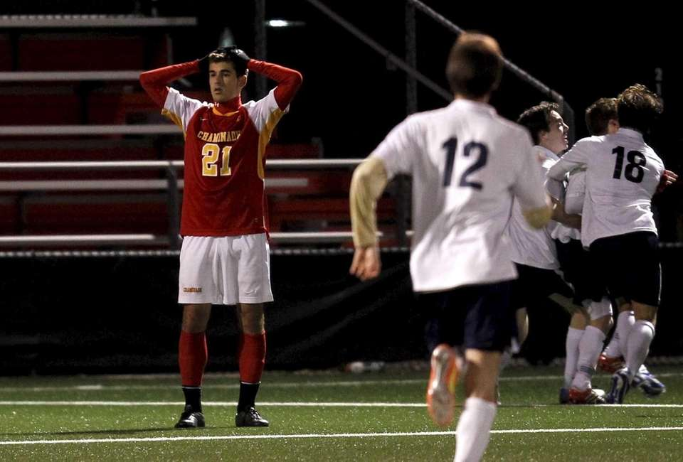 Chaminade's Hunter Frey reacts after losing to Cansius.