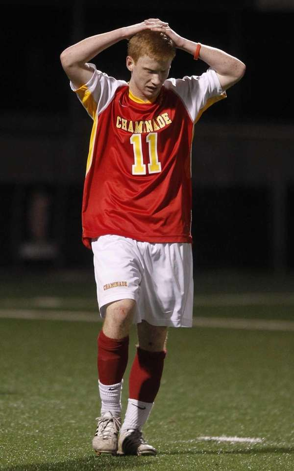 Chaminade's Kyle Walsh reacts after a failed scoring