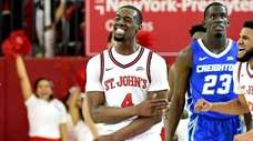 Greg Williams Jr. of St. John's celebrates a