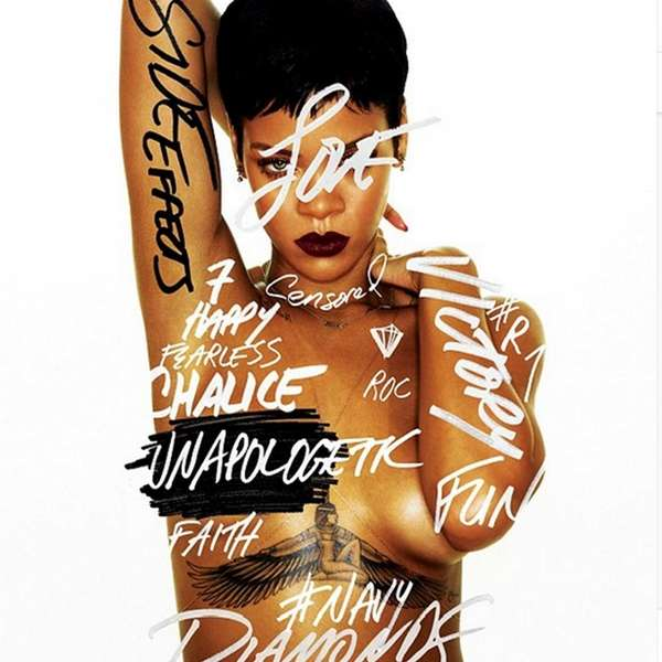 "Rihanna's album cover for ""Unapologetic."""
