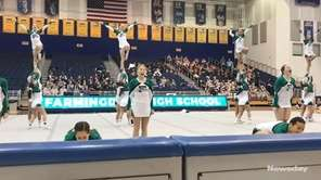 Farmingdale's cheerleading team wins the Nassau Division I