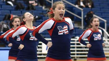 MacArthur performs during the Nassau cheerleading championships at