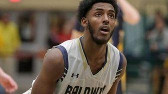 Baldwin's Isiah Walker #24 takes a foul shot