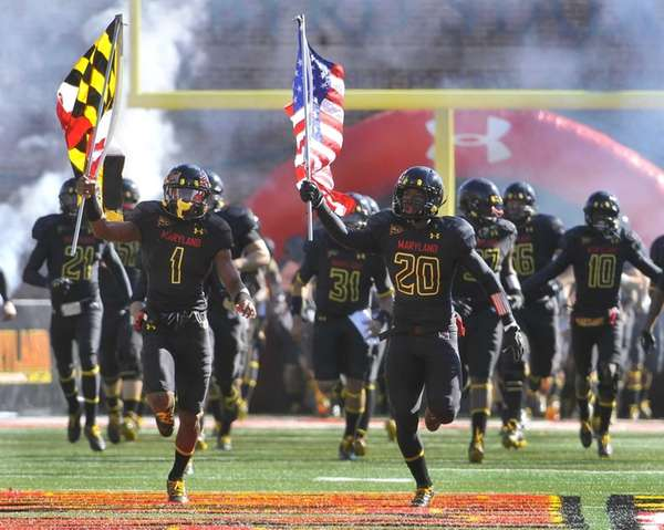 Maryland's Stefon Diggs, left, and Anthony Nixon lead