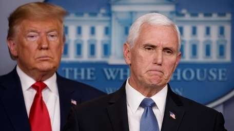 Vice President Mike Pence, joined by President Donald