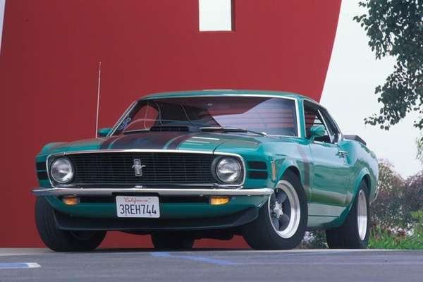 Collectible cars, such as the 1970 Ford Mustang