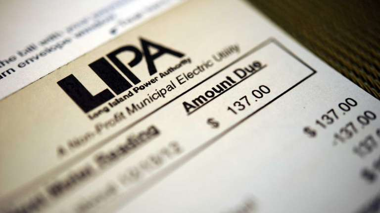 A typical residential LIPA bill; LIPA ratepayers pay