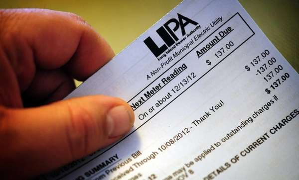 A typical residential LIPA bill. (Nov. 19, 2012)