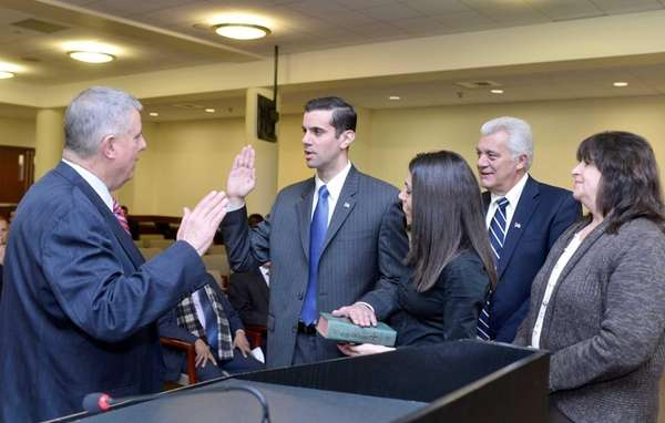 Nassau GOP Chairman Joseph Mondello swears in Michael