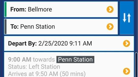 The LIRR TrainTime app features fare and schedule