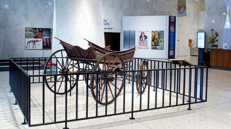 """""""Spirit of 1776"""" wagon is on display in"""
