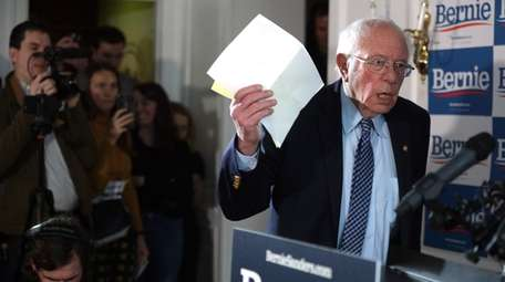 Bernie Sanders at his campaign office Wednesday in