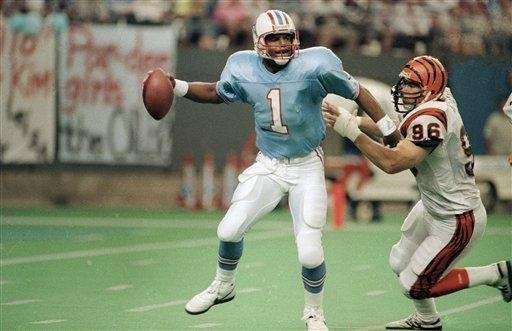 WARREN MOON 527 yards, Dec. 16, 1990 Moon