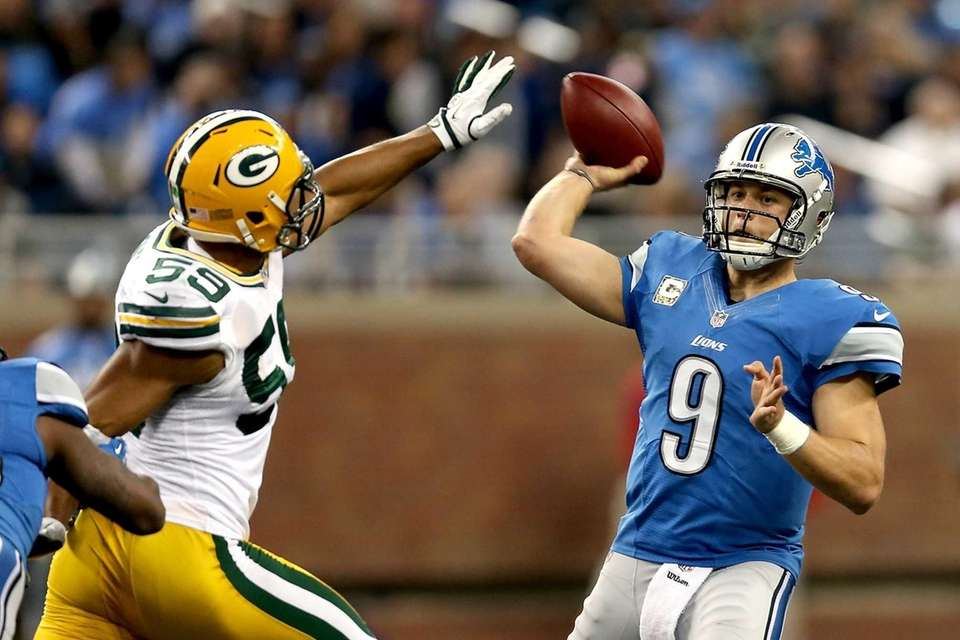 MATTHEW STAFFORD 520 yards, Jan. 1, 2012 Stafford