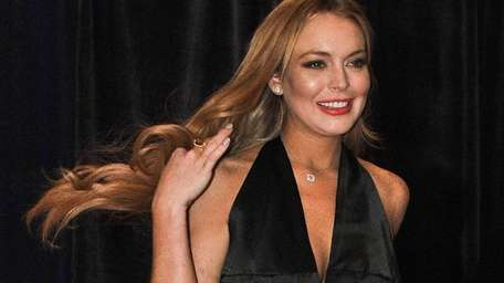 Lindsay Lohan arrives at the annual White House