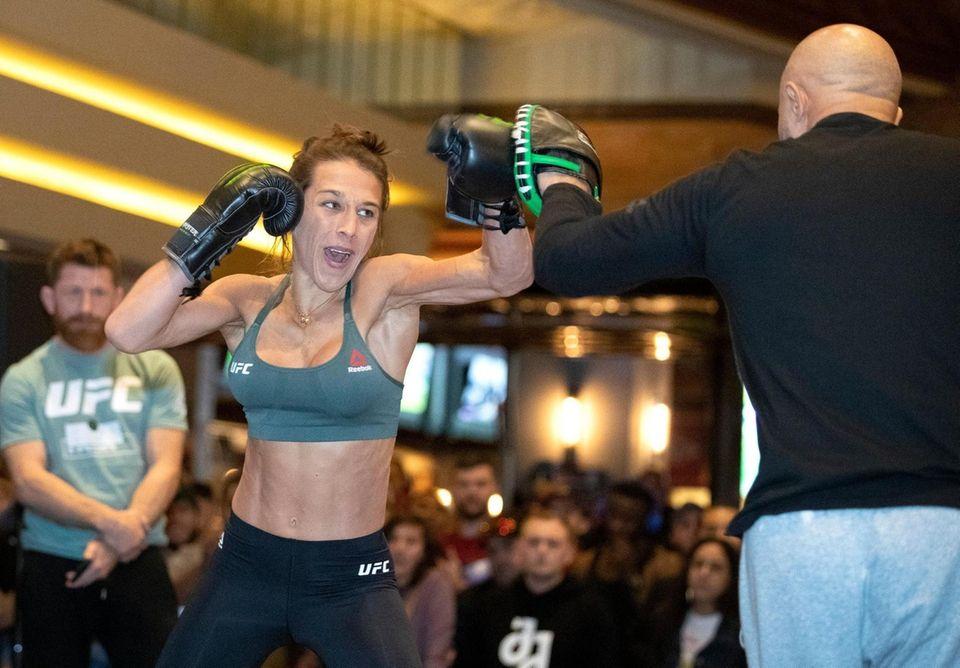 Former UFC women's strawweight champion Joanna Jedrzejczyk, of