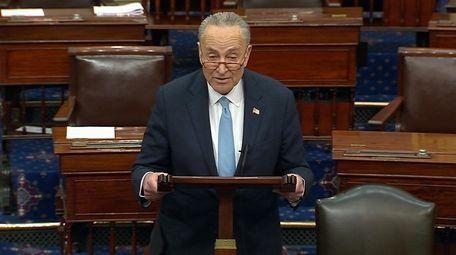 Senate Minority Leader Chuck Schumer of N.Y., speaks