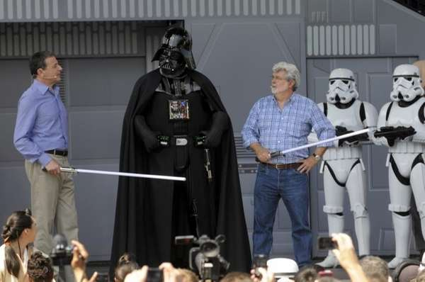 Disney CEO Robert Iger, left, and Star Wars