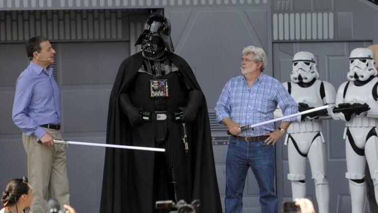 Disney CEO Robert Iger, left, and Star Wars
