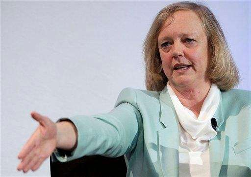 Hewlett Packard chief executive and president Meg Whitman
