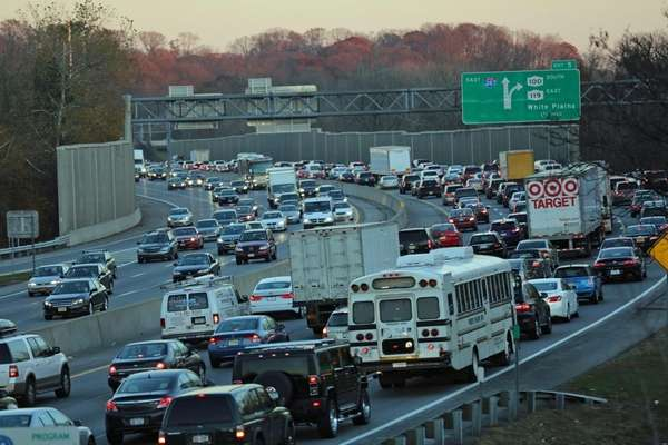 Holiday traffic on Interstate 287 in White Plains.