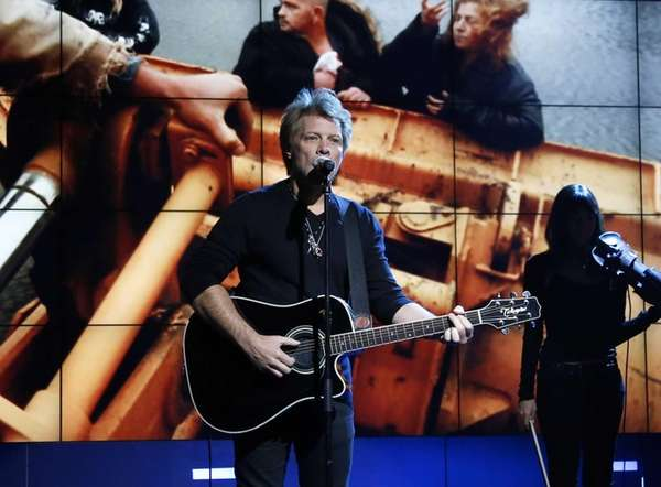 Jon Bon Jovi performs in New York during