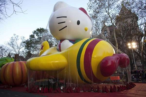 Inflated balloons for the Macy's Thanksgiving Day parade