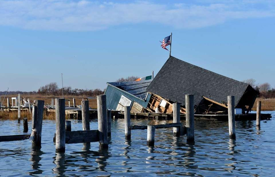 The Town of Hempstead bay houses suffered massive
