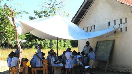 St. John's volunteers visited Haiti's St. Mathias school