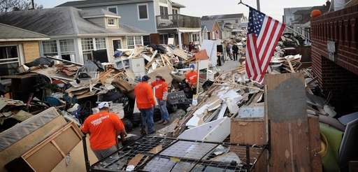 People with the charity group Samaritan's Purse help