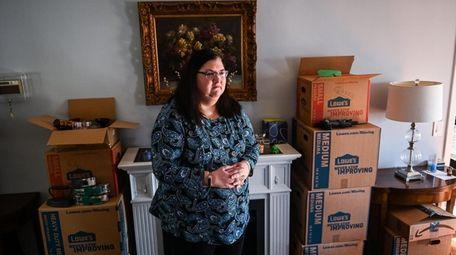 Lynn Wiedmer, shown at her Glen Head apartment,