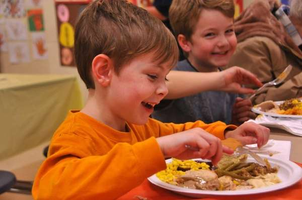 Eamon Sostack, 6, of Baldwin, celebrates Thanksgiving with