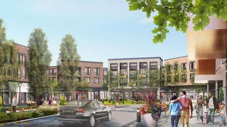 A rendering of the proposed Heritage Village mixed-use