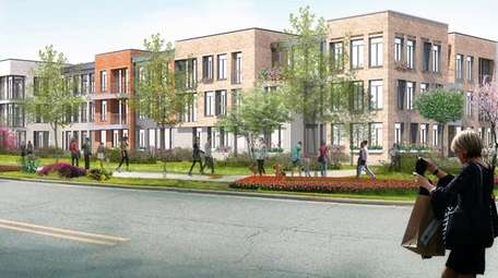 A rendering of the proposed Heritage Village mixed-use,