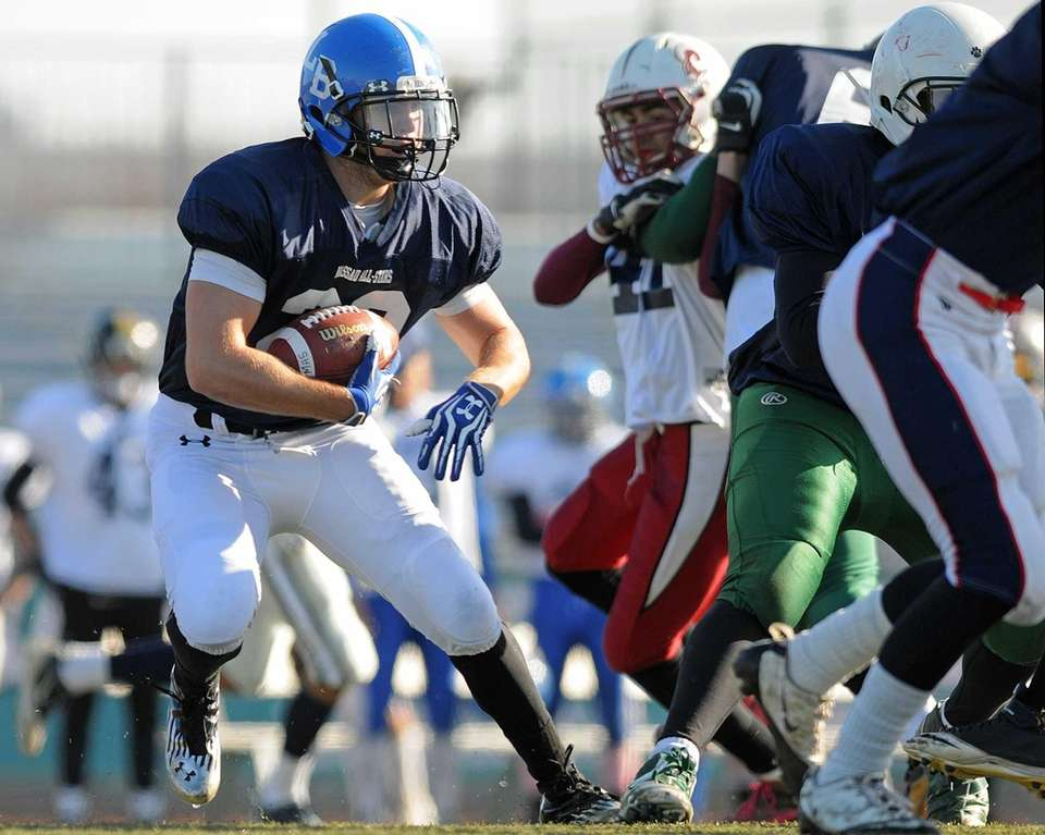 Blue Team (Conferences II and III) running back