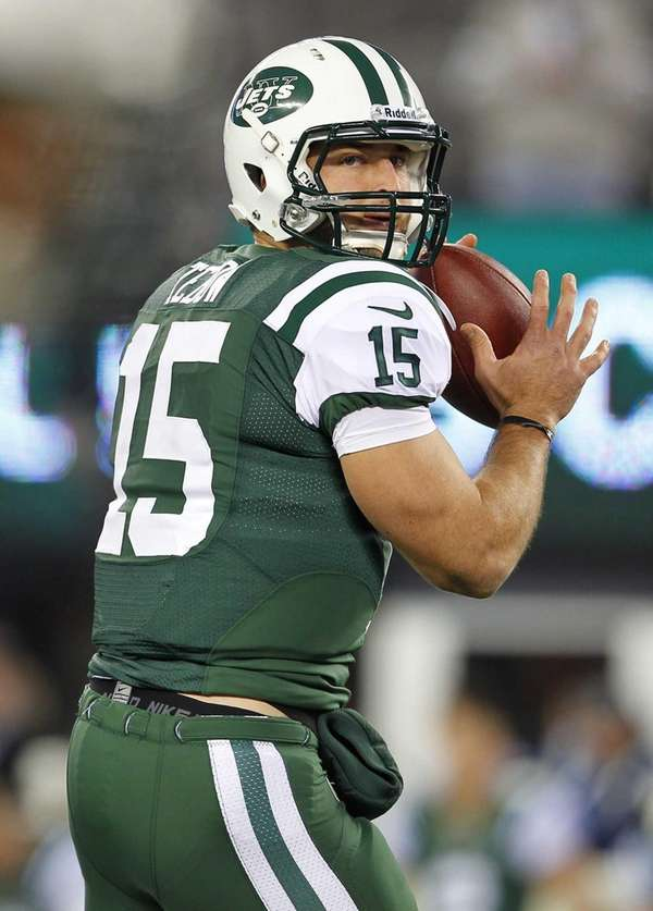 Quarterback Tim Tebow of the New York Jets