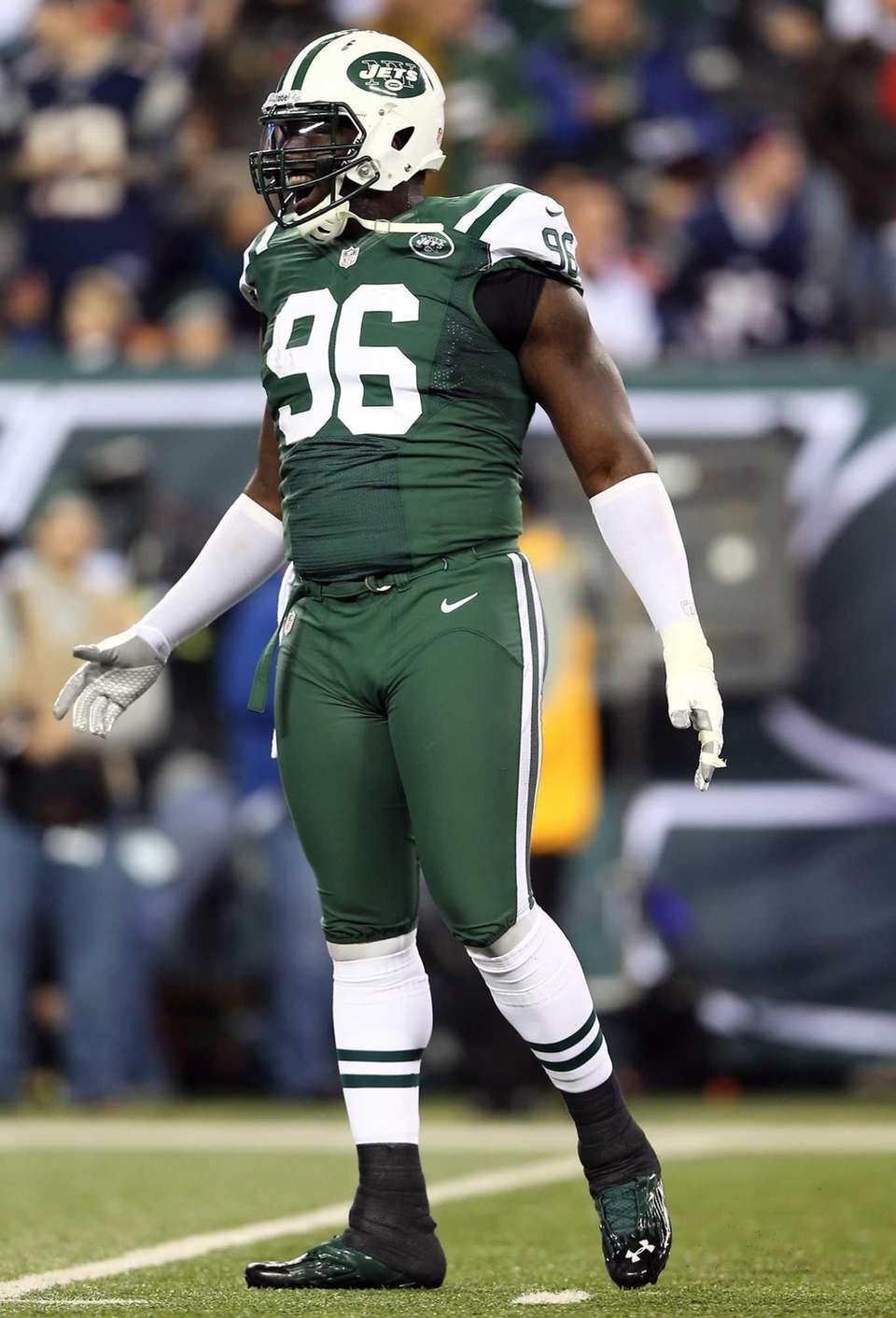 Muhammad Wilkerson of the New York Jets celebrates