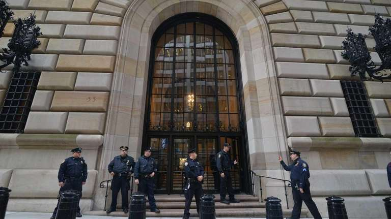 The Federal Reserve Bank in Manhattan (October 17,