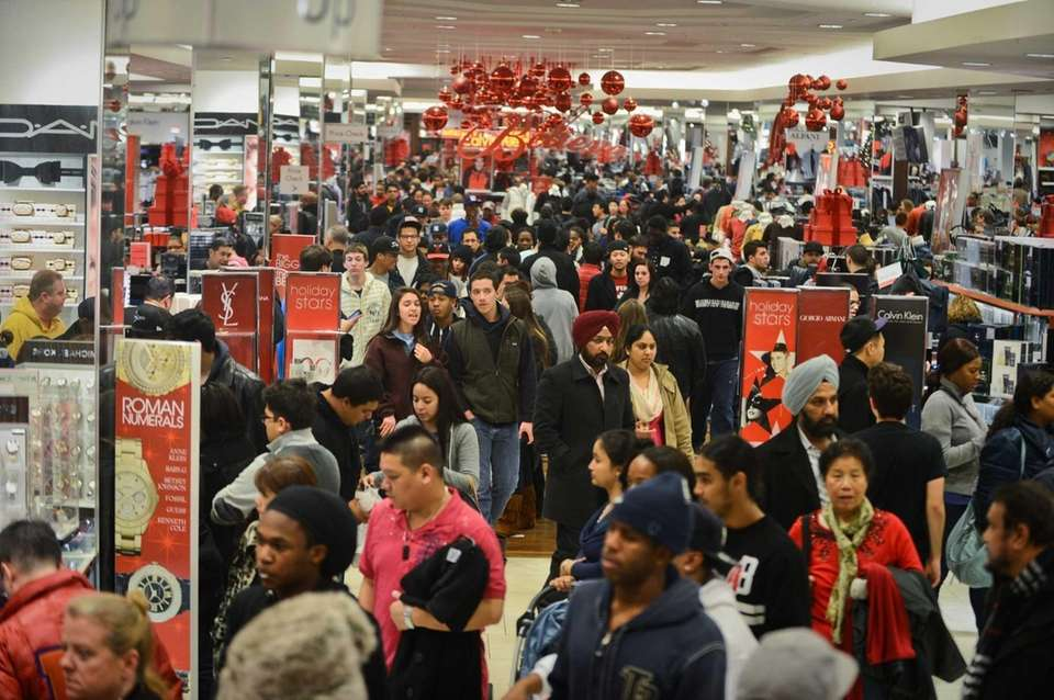 Customers flood into the Macy's in the Roosevelt