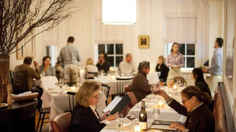 Topping Rose House's main dining room, where contemporary
