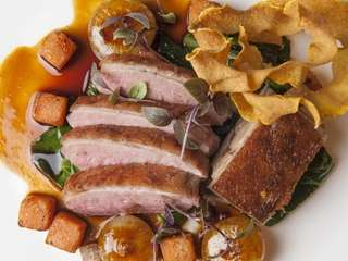 Topping Rose House's roasted, juicy Rohan duck benefits